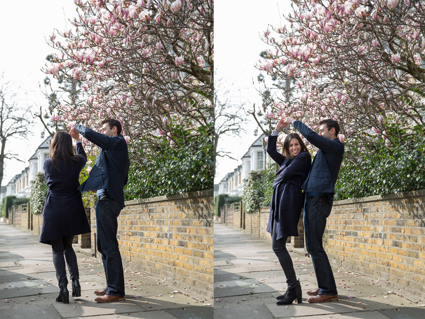 Photographer for engagement photos in North London