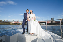 Wedding Photographer for a Thames River Cruise
